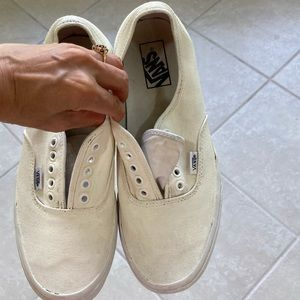 Vans White skateboard Boat casual Shoes Size 9